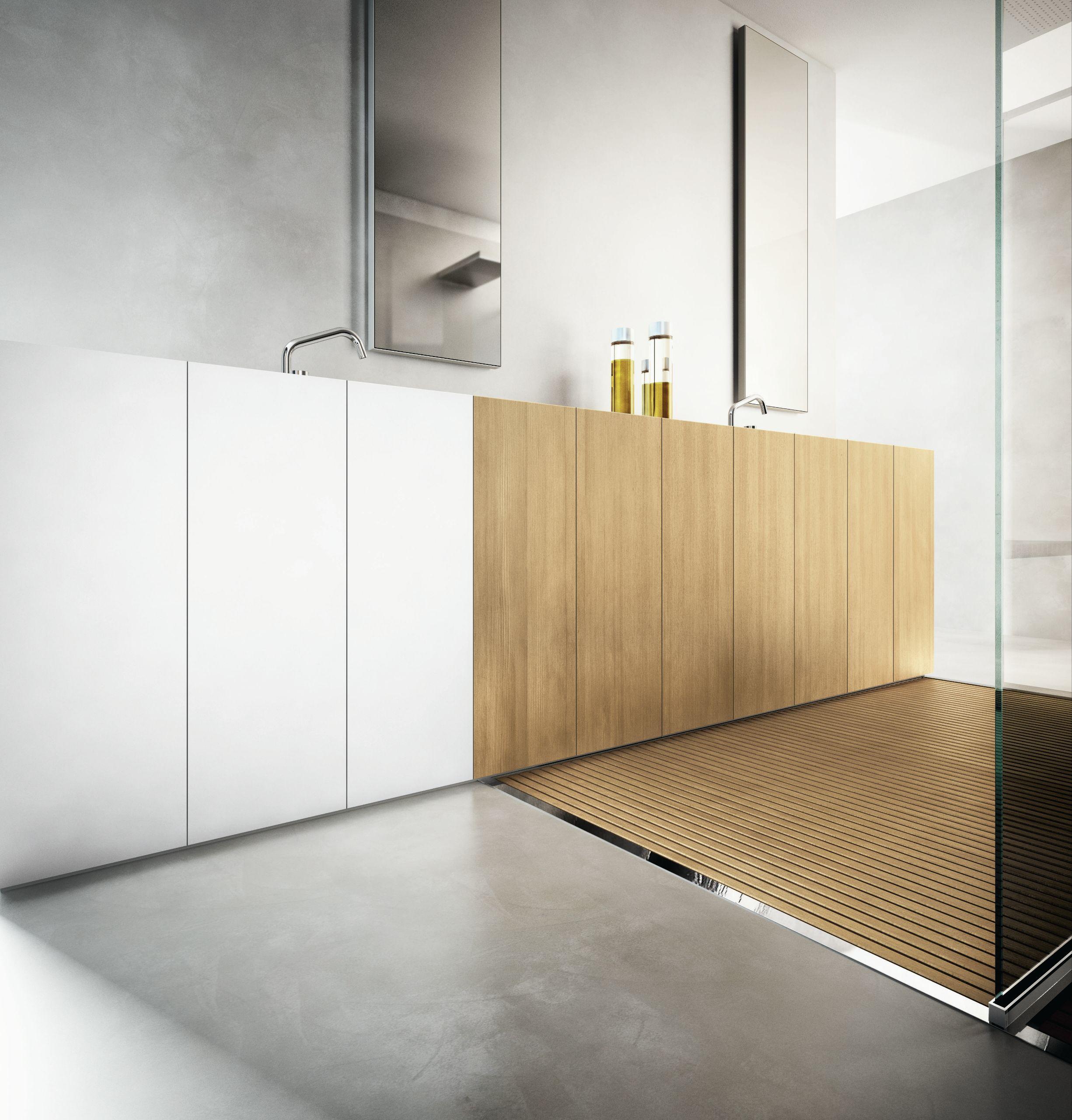 Salle de bains compl te bacs douche lavabo open space 01 for Ajax gel salle de bain