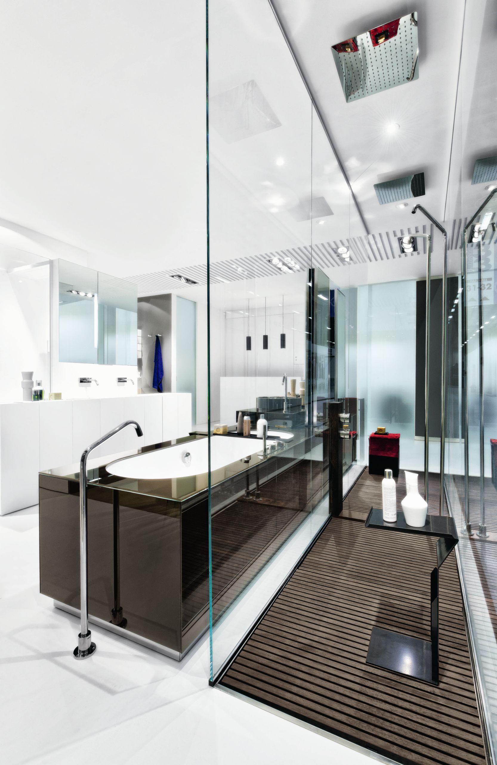 Salle de bains compl te baignoire lavabo linear 03 by for Tarif salle de bain complete