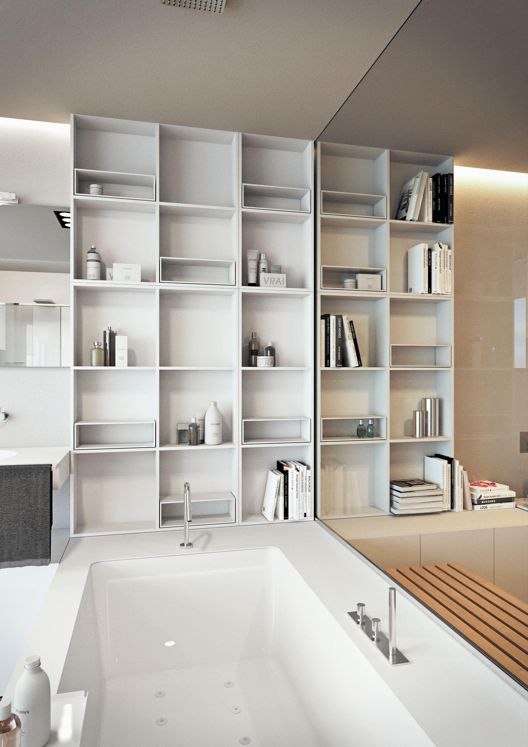 Ba o completo ba era lavabo open space 01 by makro for Banos completos