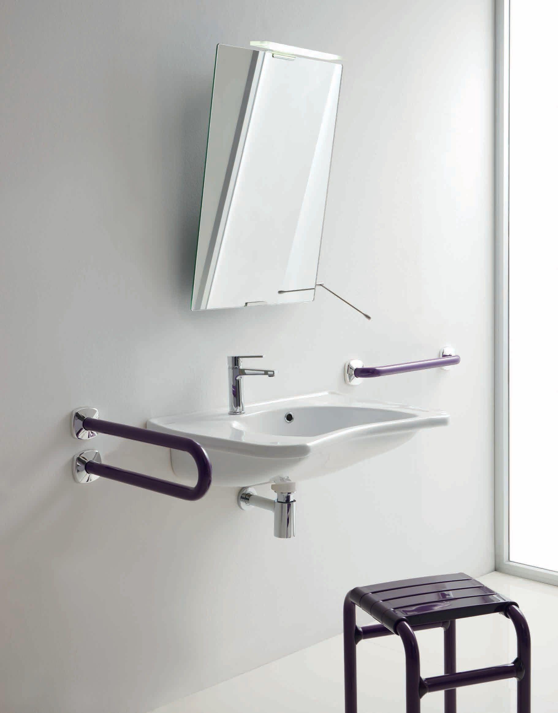 Lavabo rettangolare sospeso in porcellana lavabo a - Ponte giulio bagno disabili ...