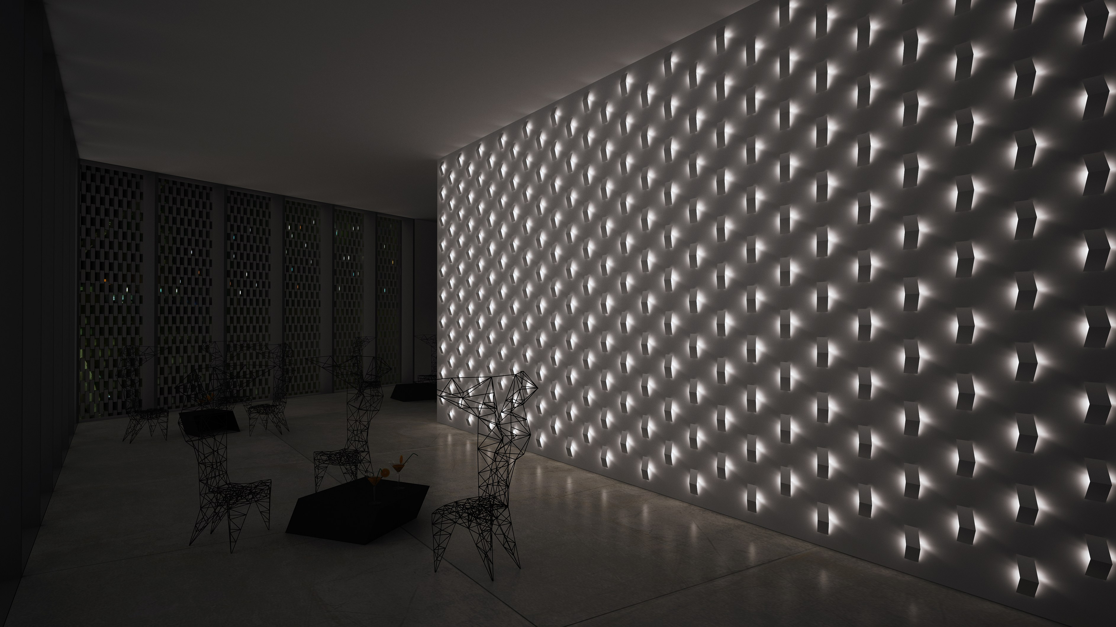 LED wall light FOLD BUILT-IN by Vibia design Arik Levy