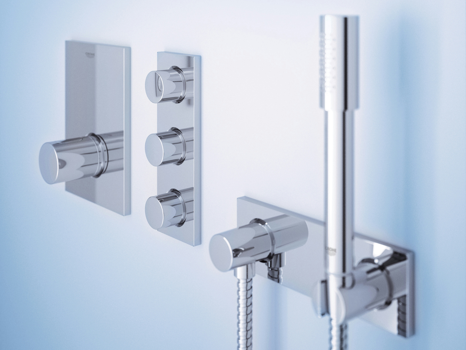 Thermostatic Shower Mixer With Hand Shower Grohterm F By Grohe