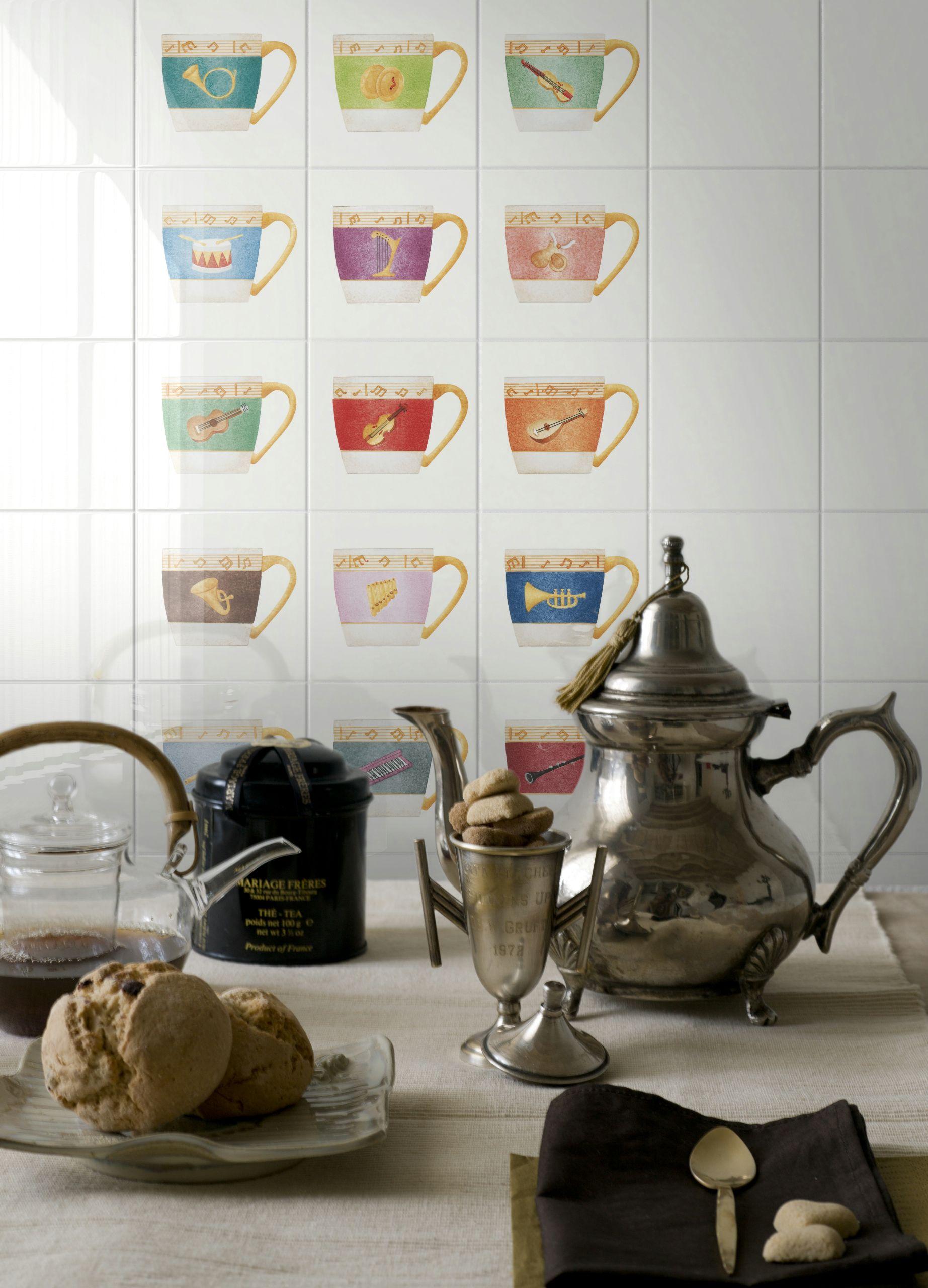 Rivestimento in ceramica bicottura orchestra by ceramica bardelli design davide pizzigoni - Ceramica bardelli cucina ...