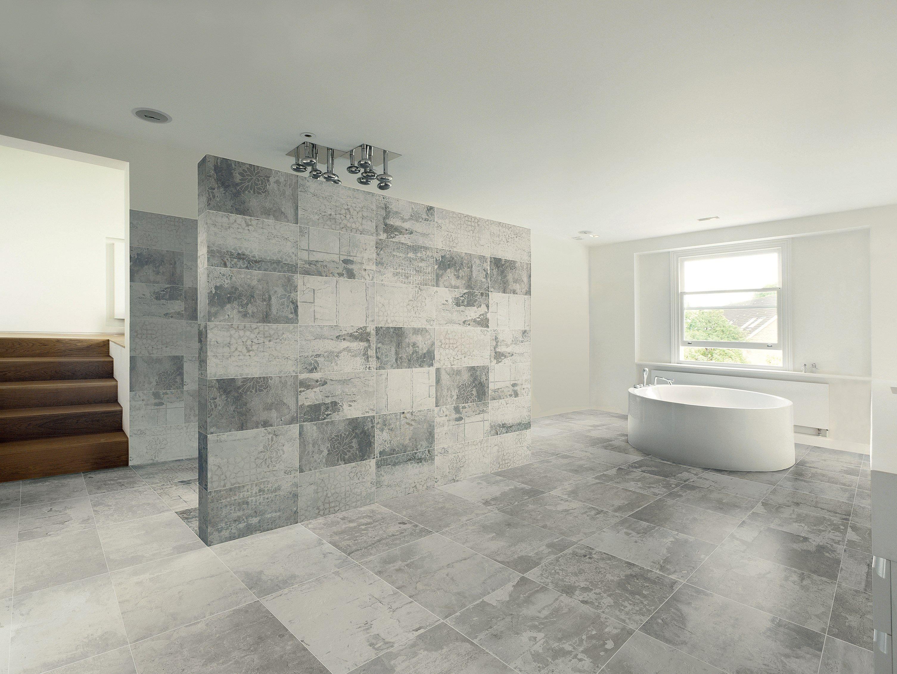 Pavimento rivestimento in gres porcellanato design - Rivestimento bagno gres porcellanato ...