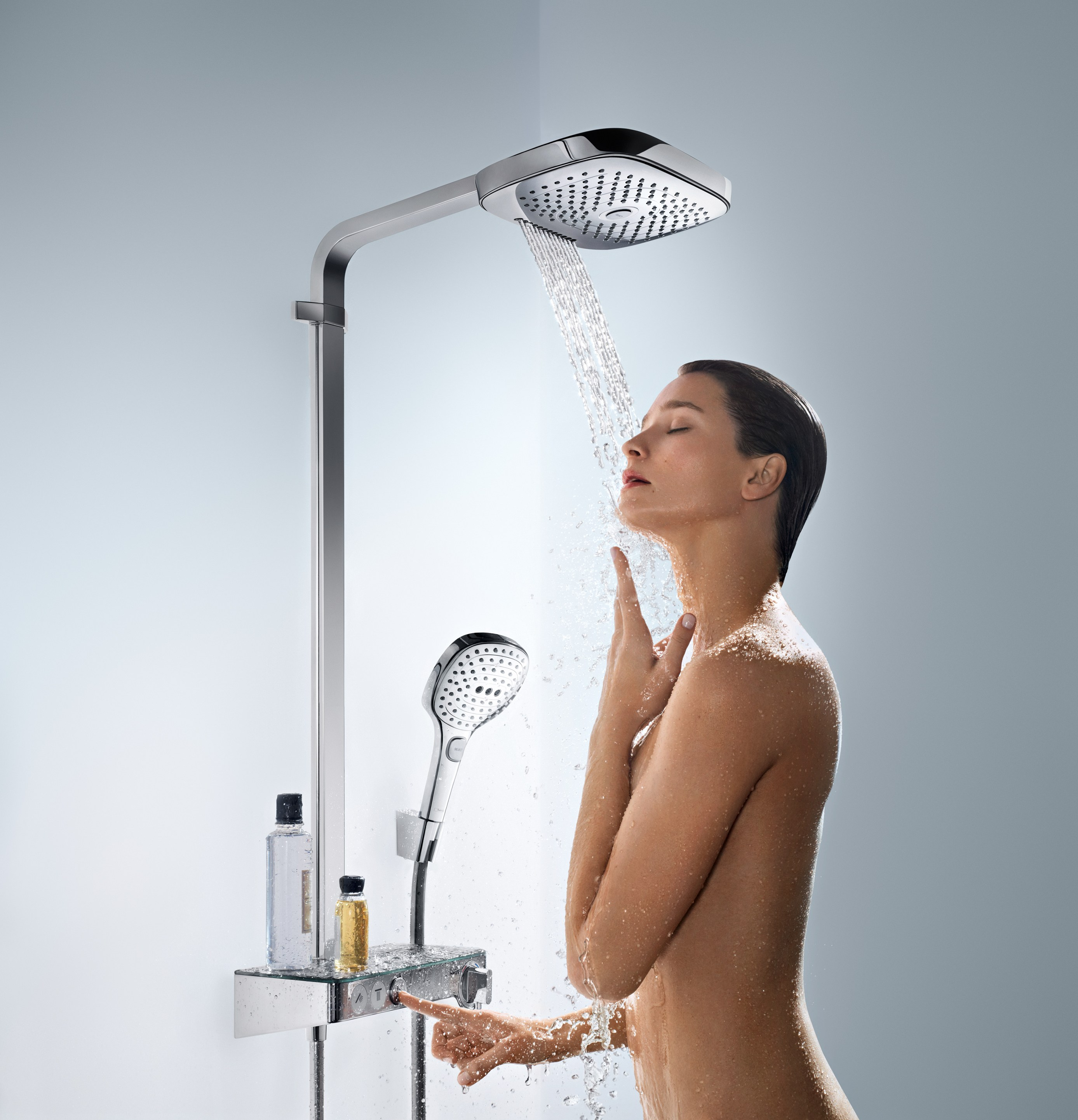 colonna doccia a parete raindance select e 300 showerpipe. Black Bedroom Furniture Sets. Home Design Ideas