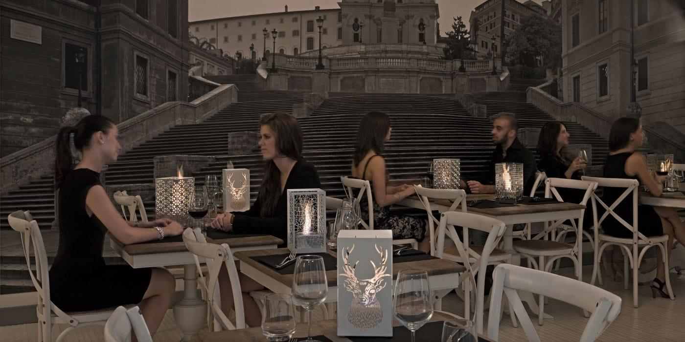 Caminetto da tavolo in metallo a bioetanolo lanterna al - Caminetto da tavolo bioetanolo ...