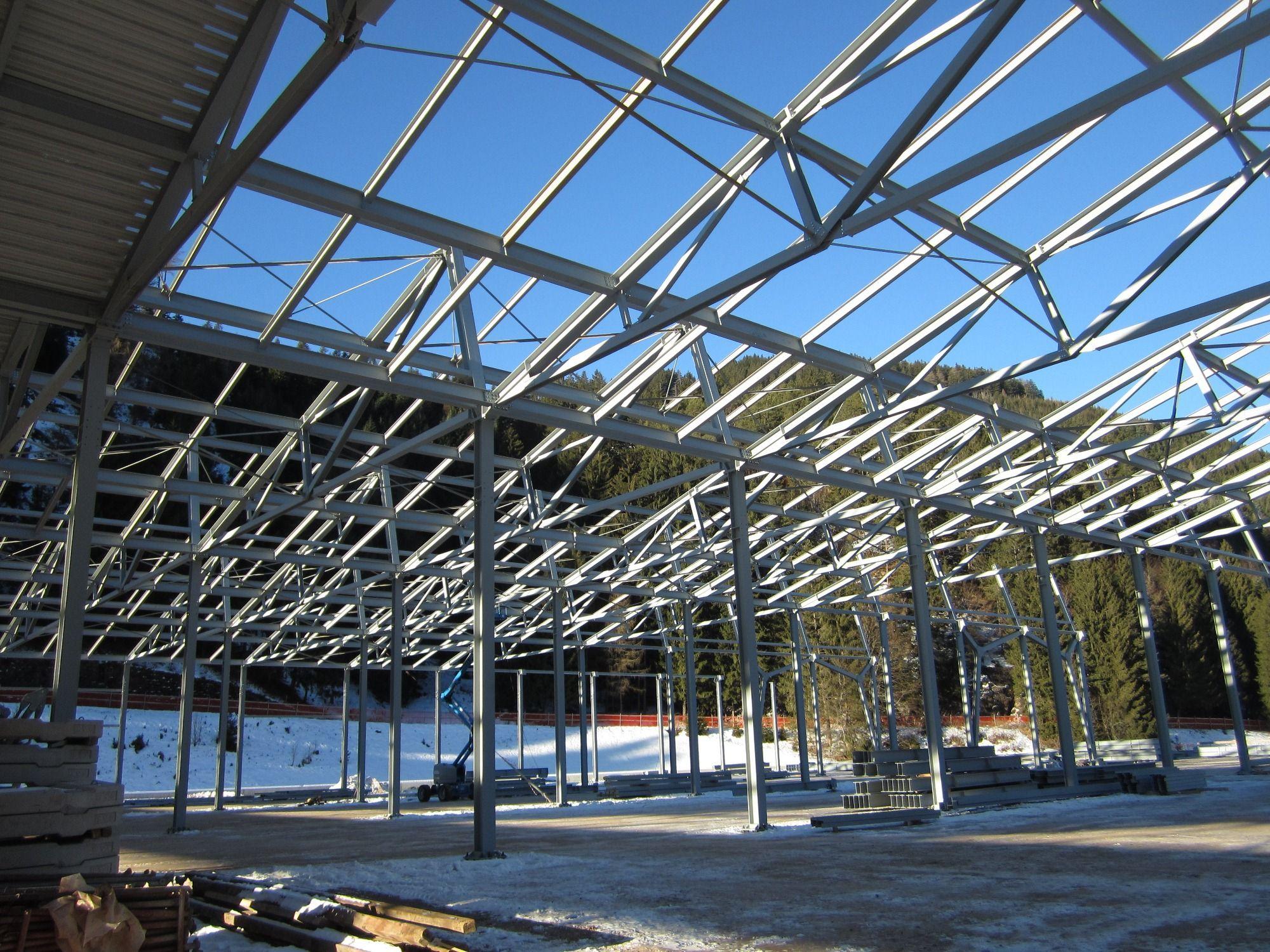 Syst me de construction en charpenterie m tallique anti for Structure metallique architecture