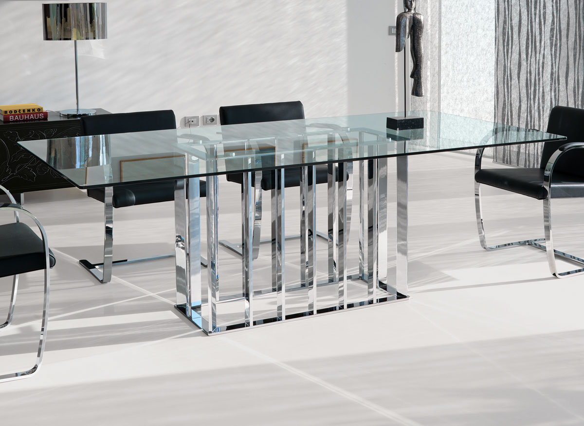 Tavolo rettangolare place vendome by italy dream design for Table de salle a manger 16 personnes