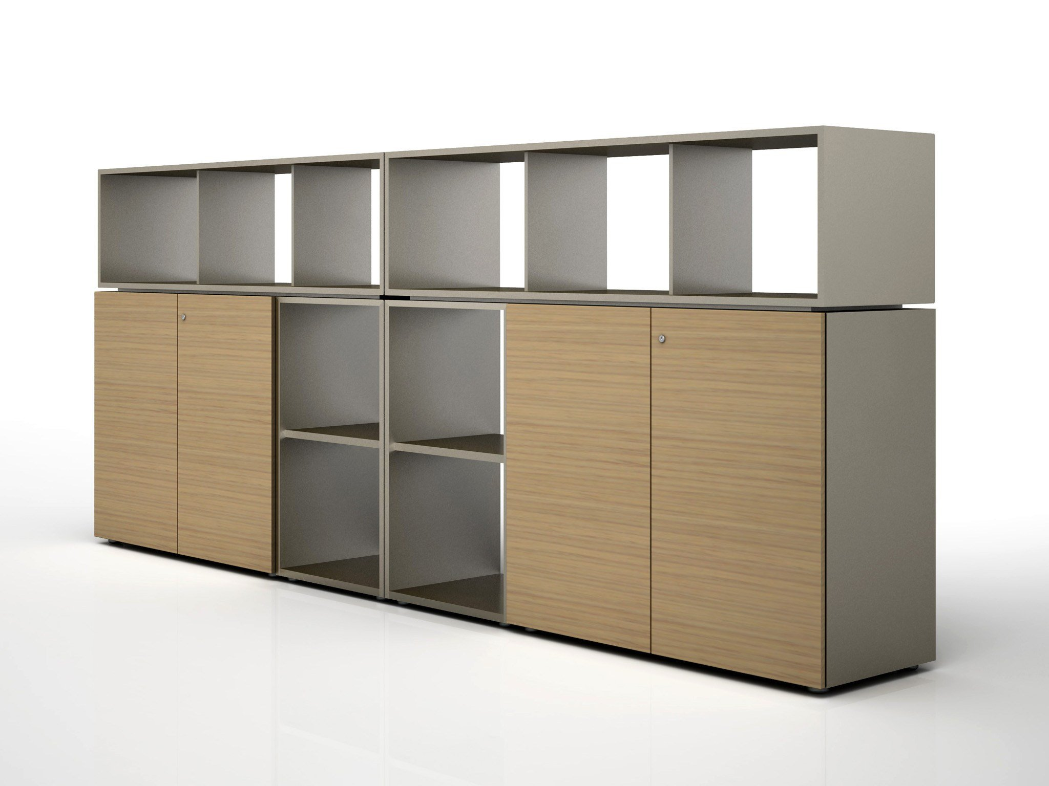 modular wooden office storage unit case by estel group