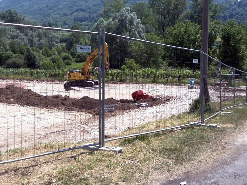Recinzione temporanea e mobile per il cantiere protection for Baldassar recinzioni