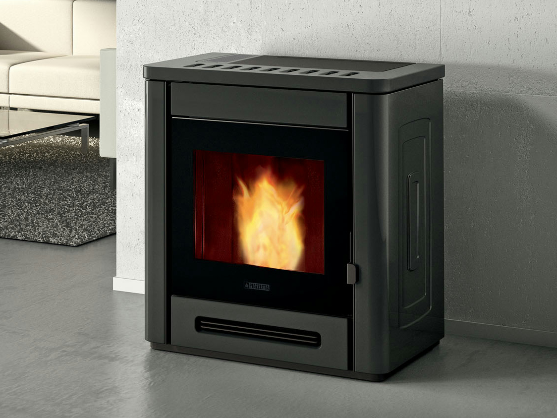 P944 estufa de pellets by piazzetta for Fabricantes de estufas de pellets