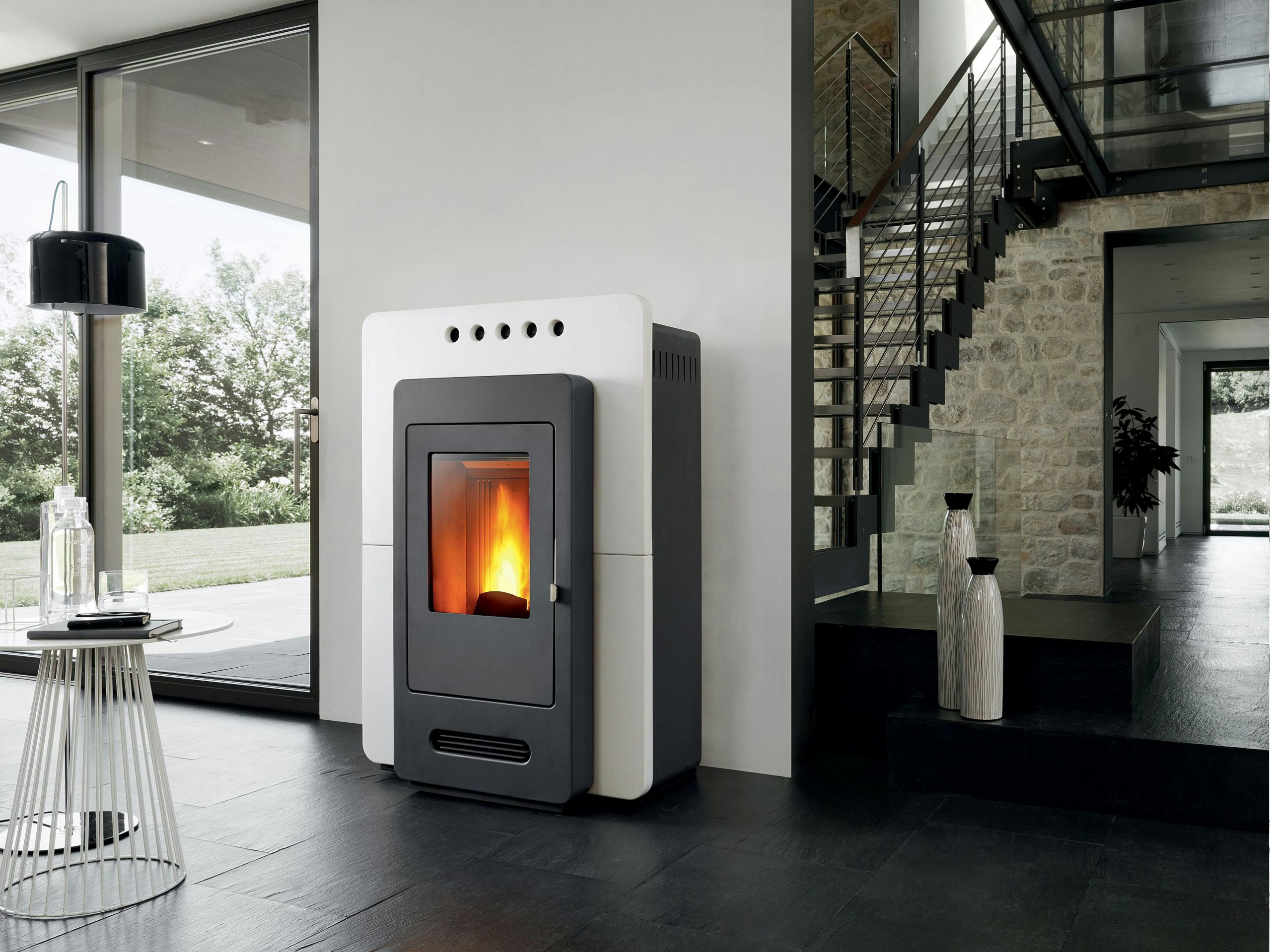 p937 pellet stove by piazzetta. Black Bedroom Furniture Sets. Home Design Ideas