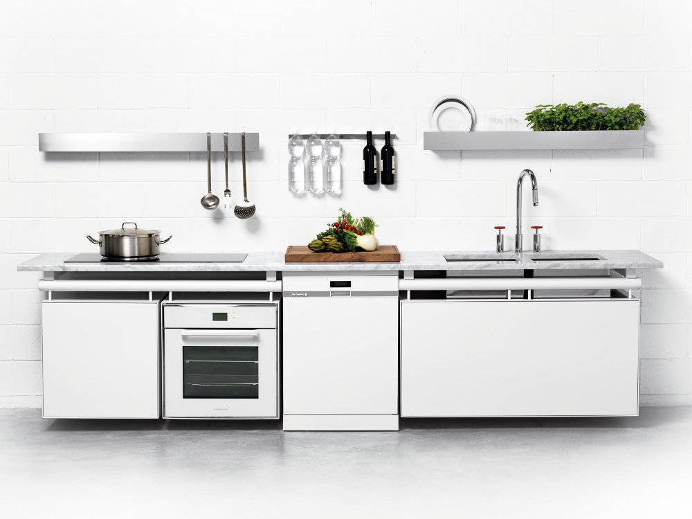 Cucina componibile lineare modulare axis wall by opinion - Elementi cucina componibile ...