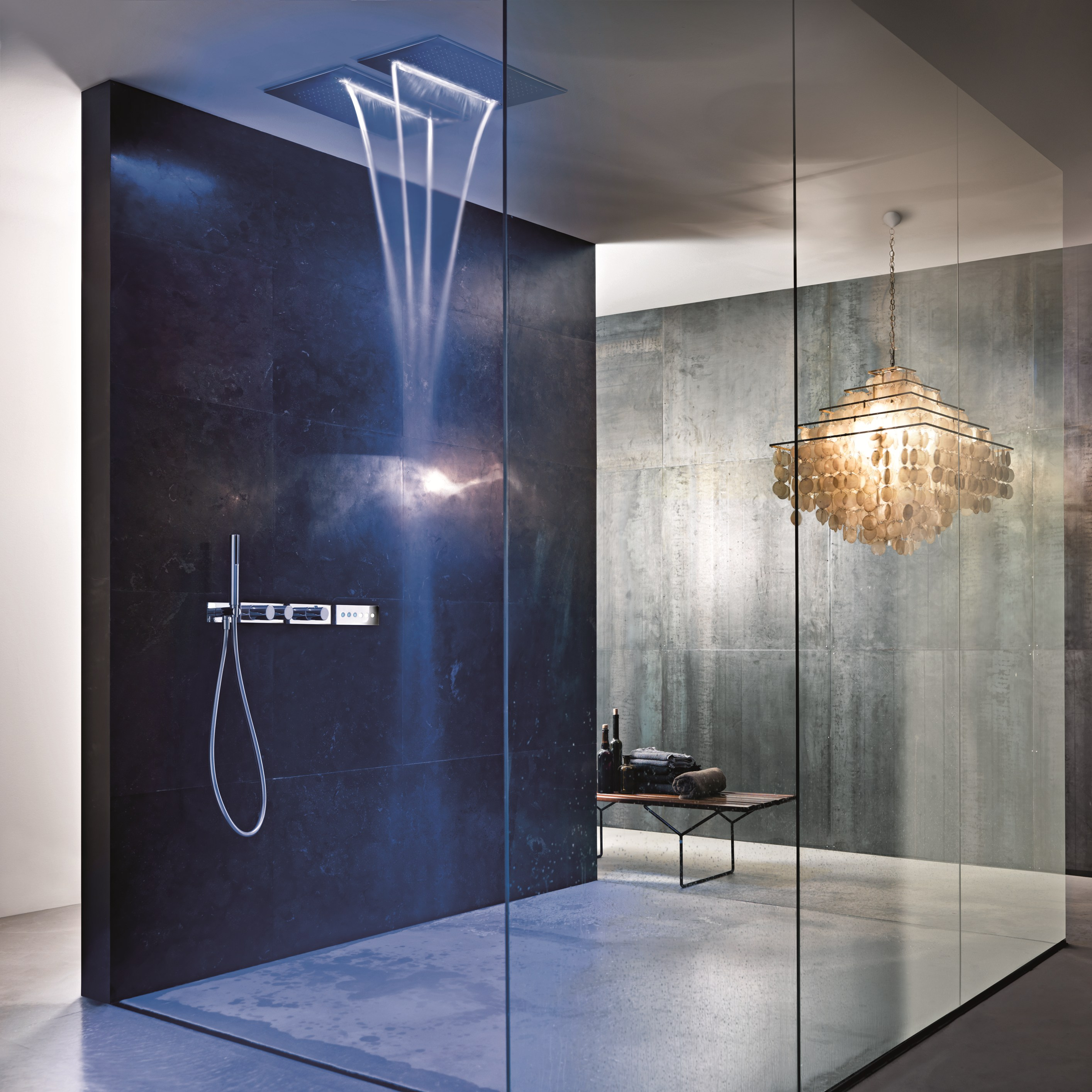 acqua zone dream overhead shower by fantini rubinetti