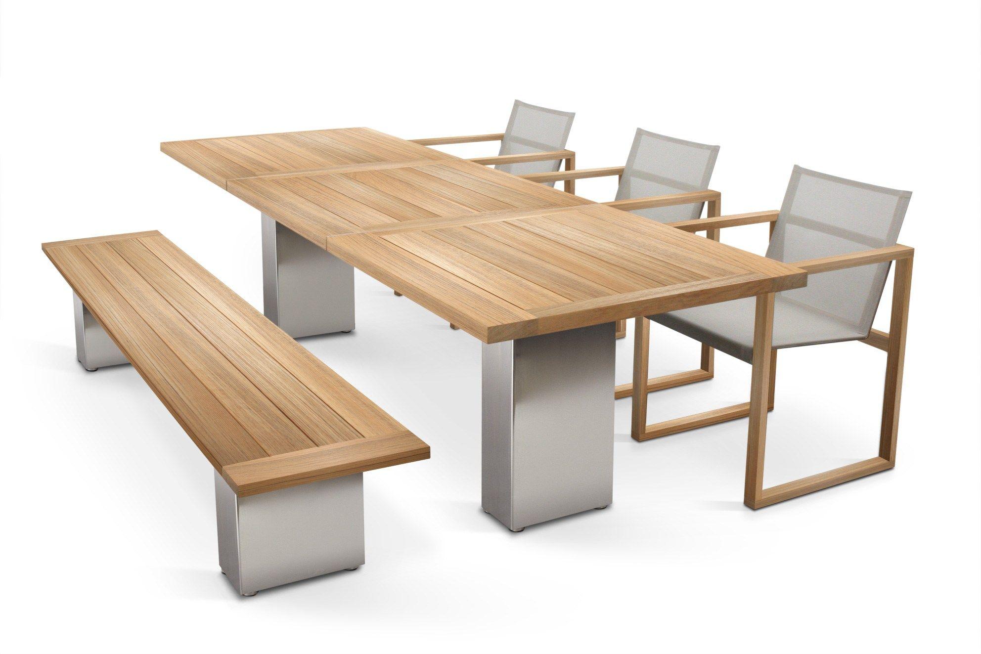 Doble mesa de teca by fueradentro dise o hendrik steenbakkers - Mesa de teca ...