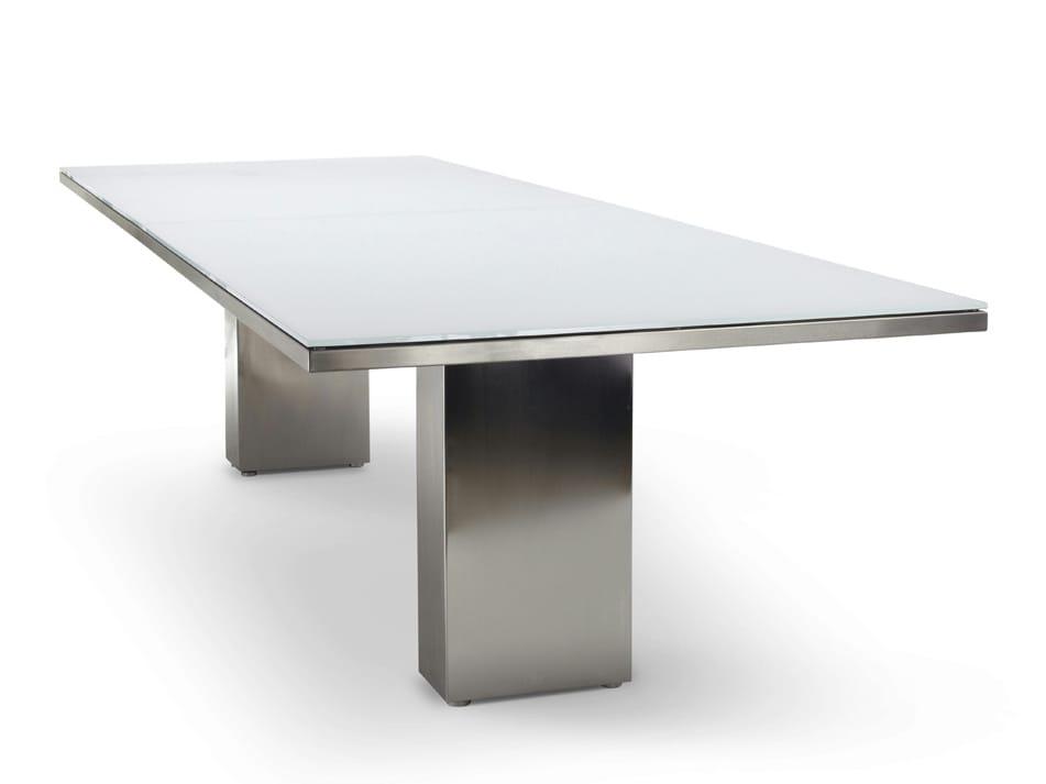 Doble gartentisch by fueradentro design hendrik steenbakkers for Design gartentisch