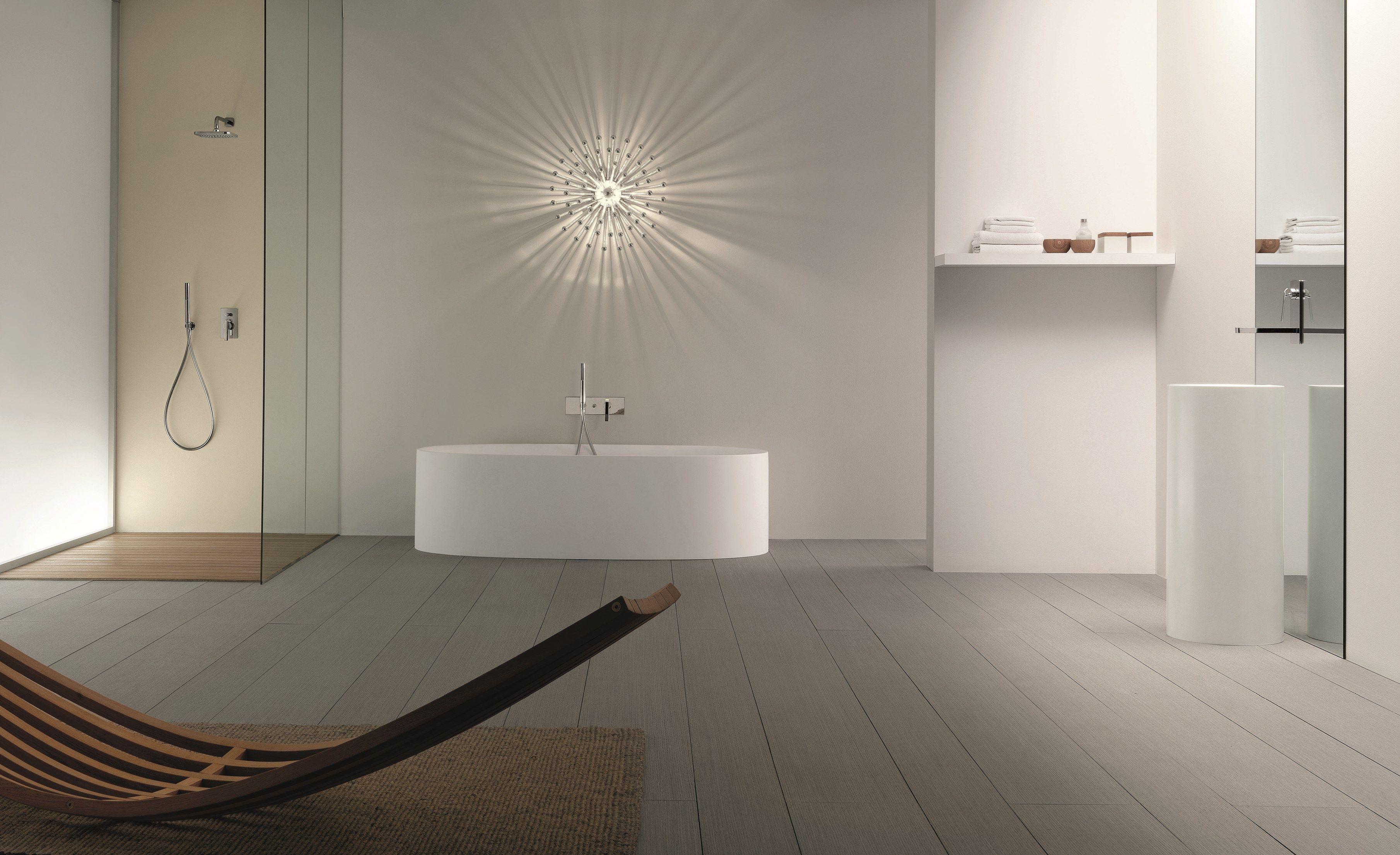 Dolce miscelatore per lavabo a muro by fantini rubinetti - Rubinetti a muro bagno ...