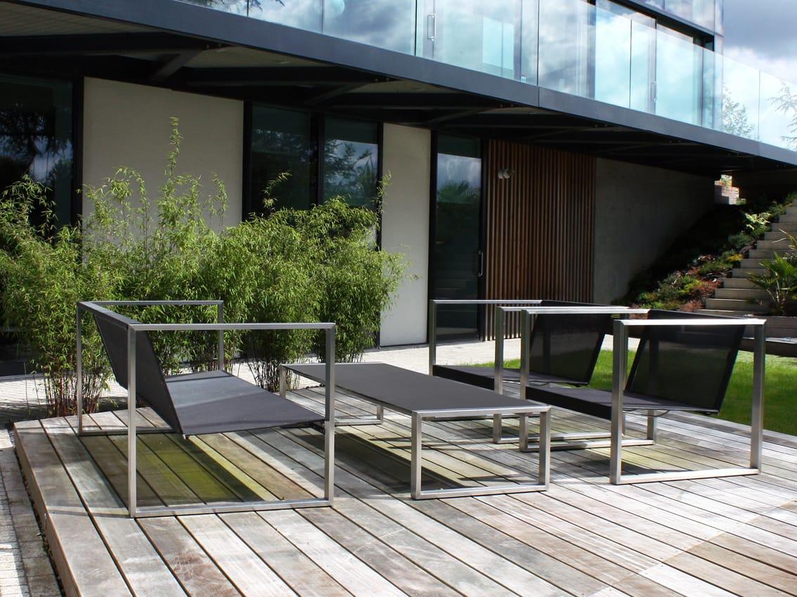 Garten couch rechteckiger garten beistelltisch tabla for Garten lounge design