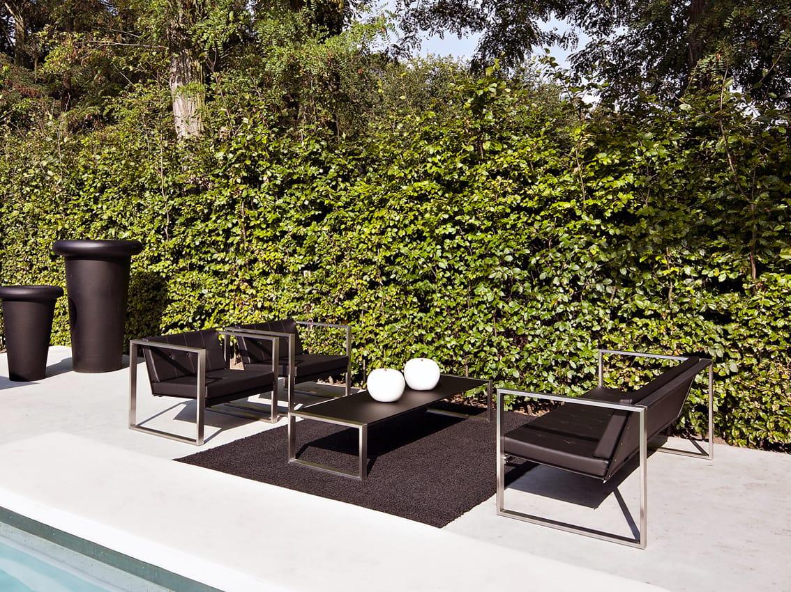 Tavolino da giardino basso rettangolare tabla lounge by for Giardino rettangolare