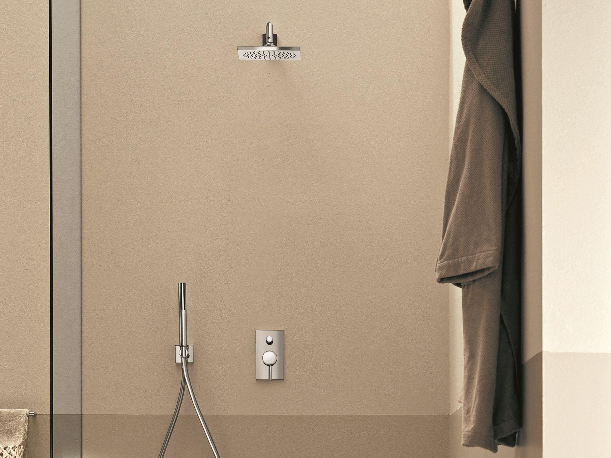 nostromo dusche mischbatterie mit platte by fantini. Black Bedroom Furniture Sets. Home Design Ideas