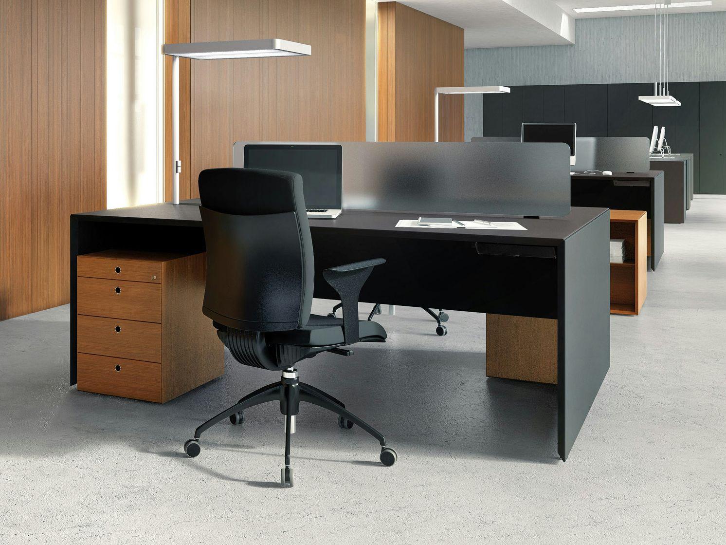 Rectangular Workstation Desk 120 Cm Quaranta5 Collection By Fantoni