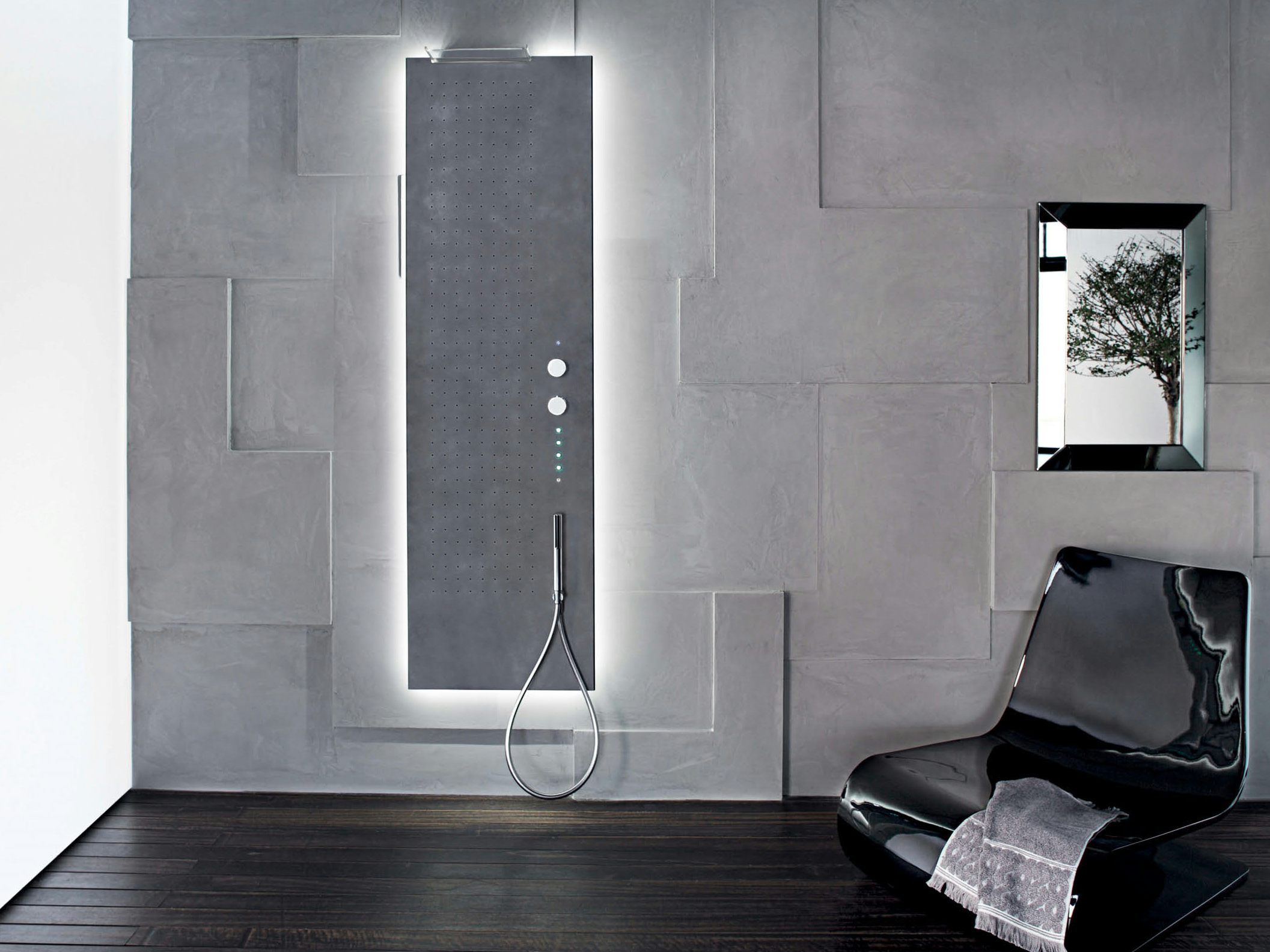 acquapura colonne de douche mural by fantini rubinetti. Black Bedroom Furniture Sets. Home Design Ideas
