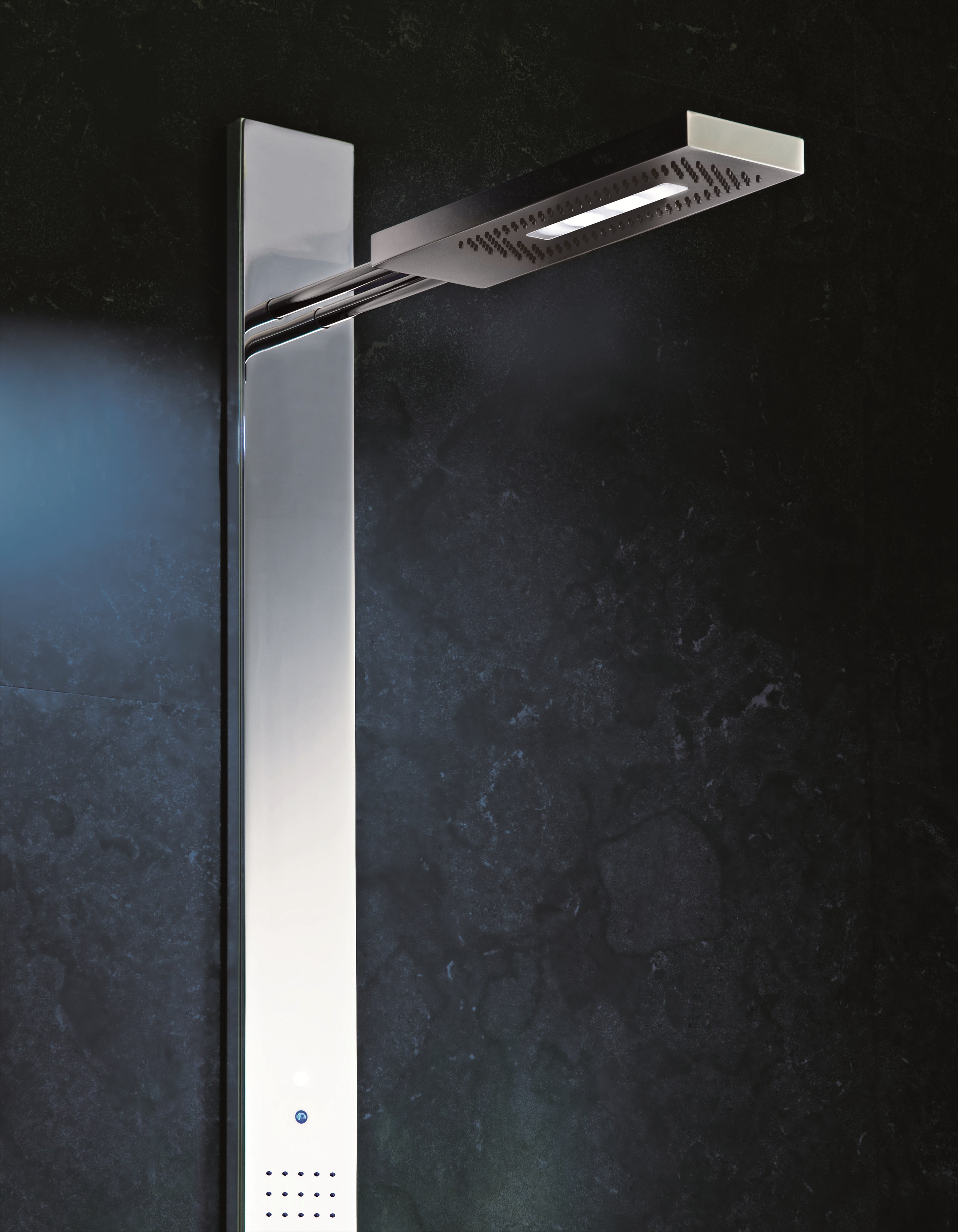 Acquazzurra Colonne De Douche Thermostatique By Fantini Rubinetti Design Franco Sargiani