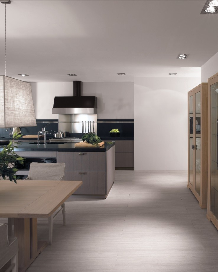 Ash Grey Cabinets Kitchen: Oak Kitchen With Island NANTÌA ASH GRAY By TONCELLI CUCINE