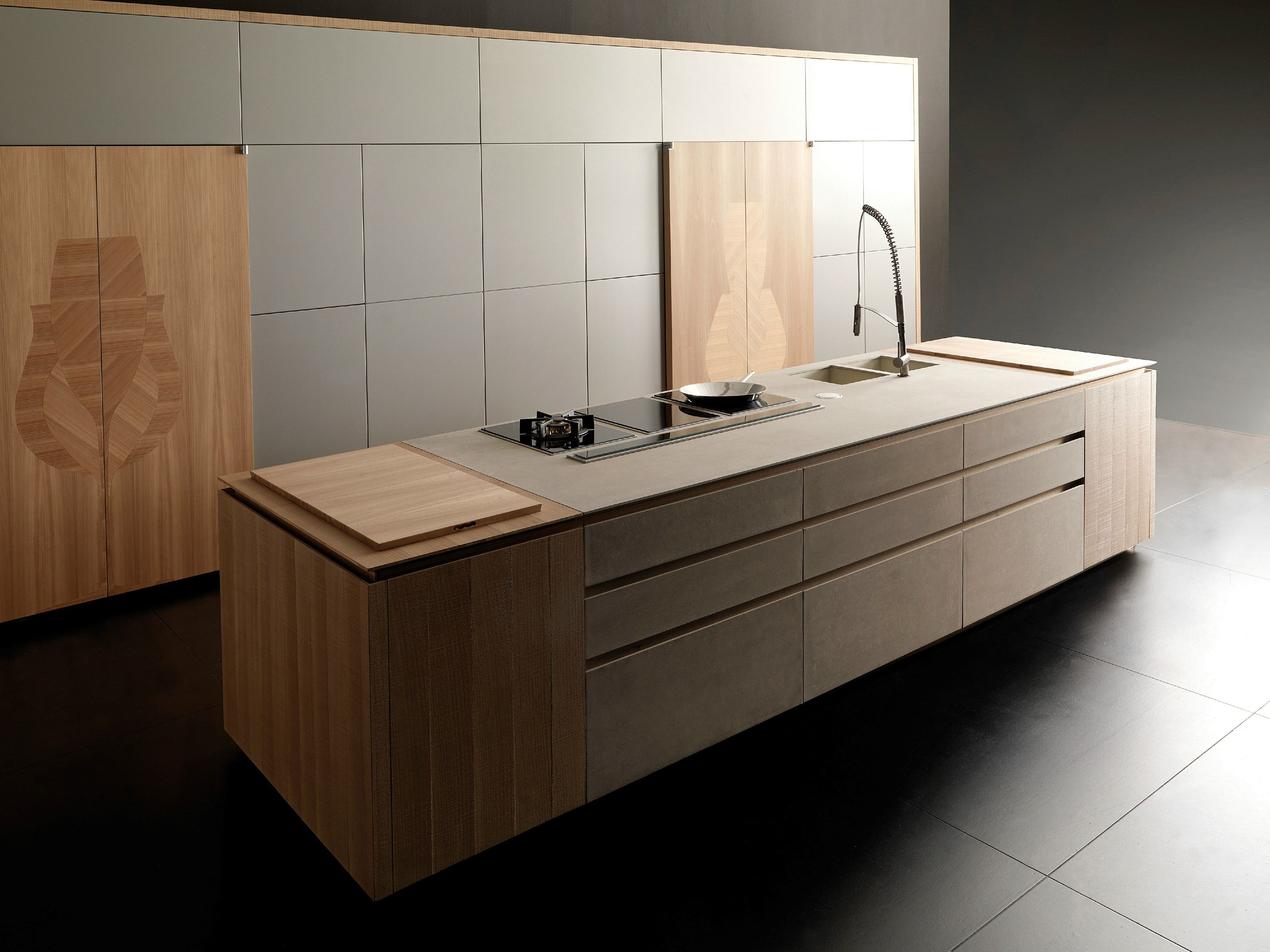 k che aus zement mit k cheninsel wind eta beige by toncelli cucine. Black Bedroom Furniture Sets. Home Design Ideas