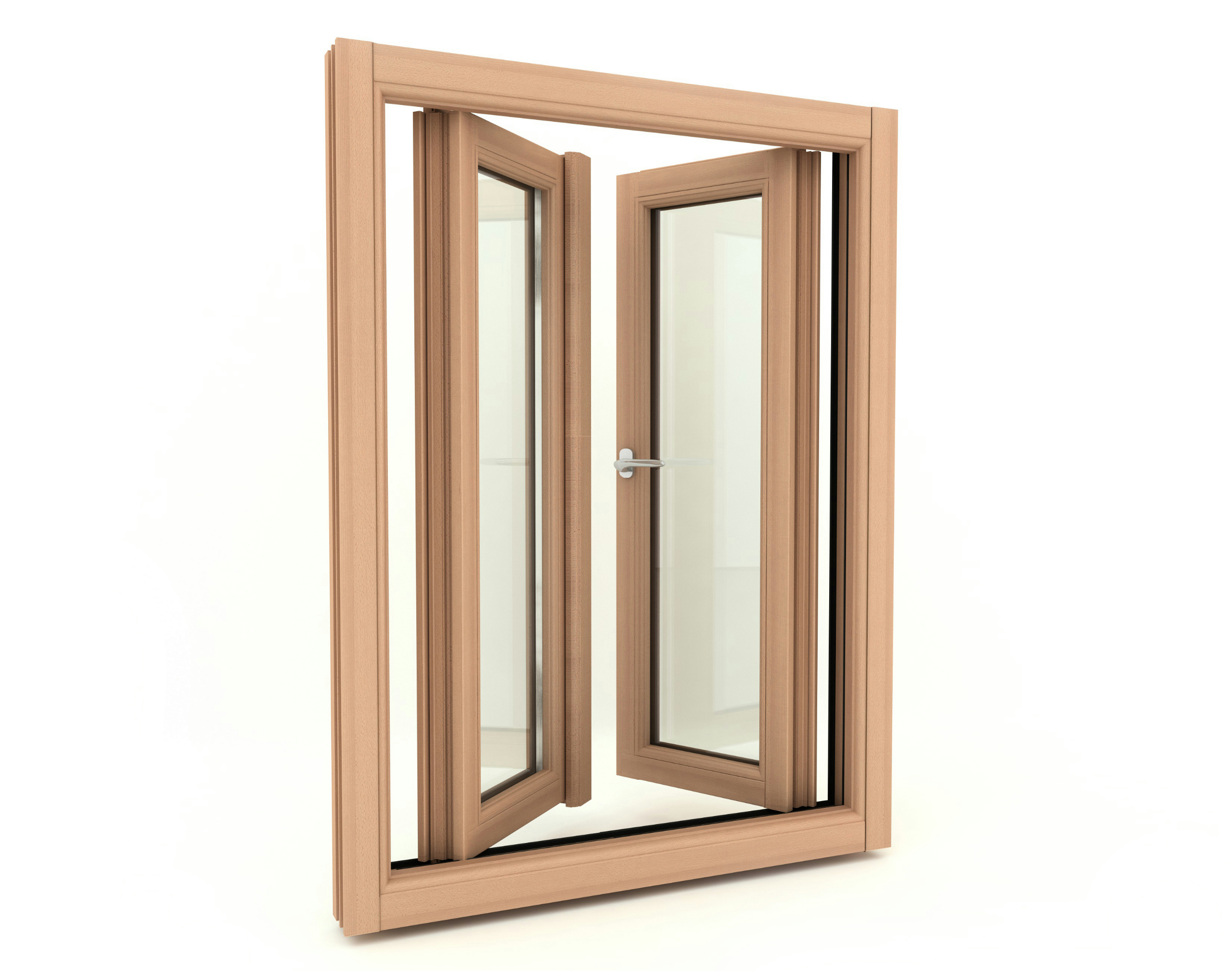 Europa horizontally pivoted window by pavanello for Wooden windows
