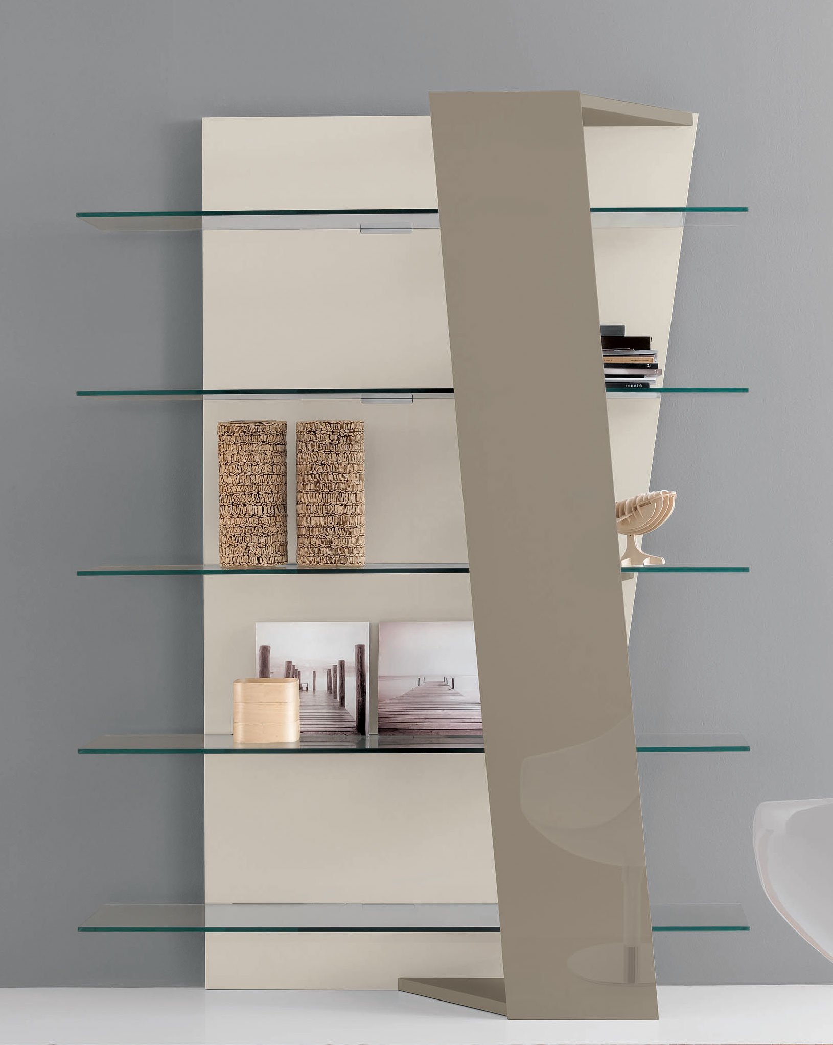 Libreria a giorno a parete in MDF design BOOK by ITALY DREAM ...
