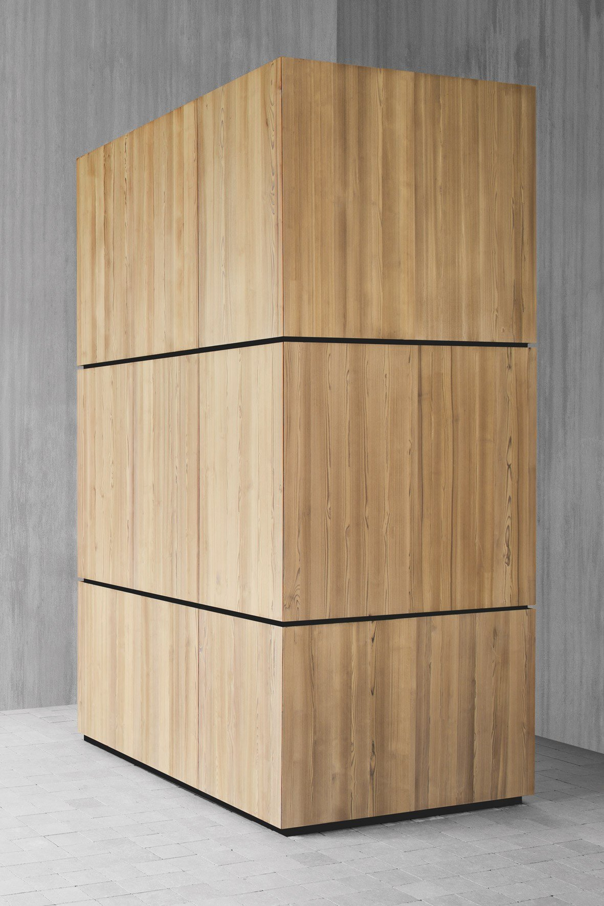 armoire design bois massif. Black Bedroom Furniture Sets. Home Design Ideas