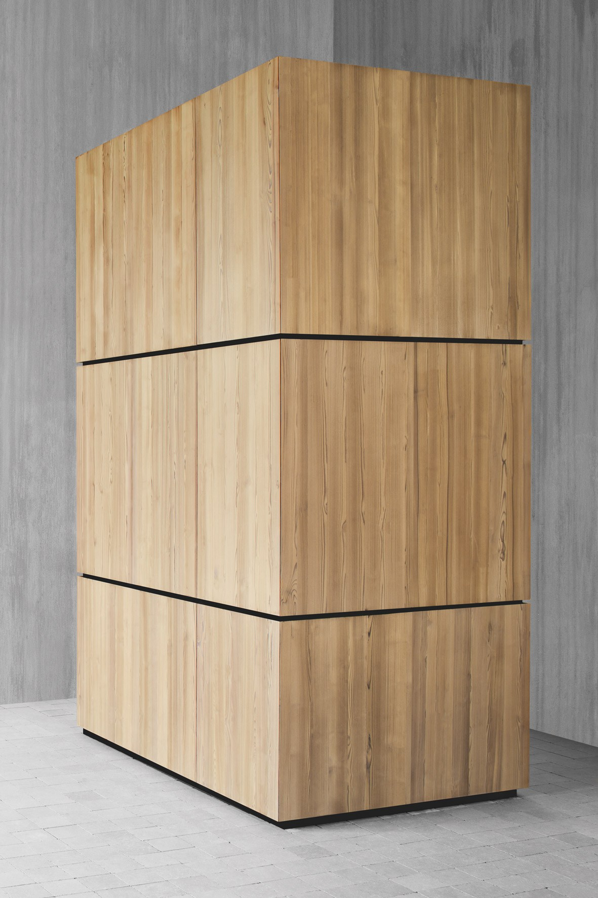 armoire de cuisine en bois massif avec four natural skin monoliti by minacciolo design arch. Black Bedroom Furniture Sets. Home Design Ideas