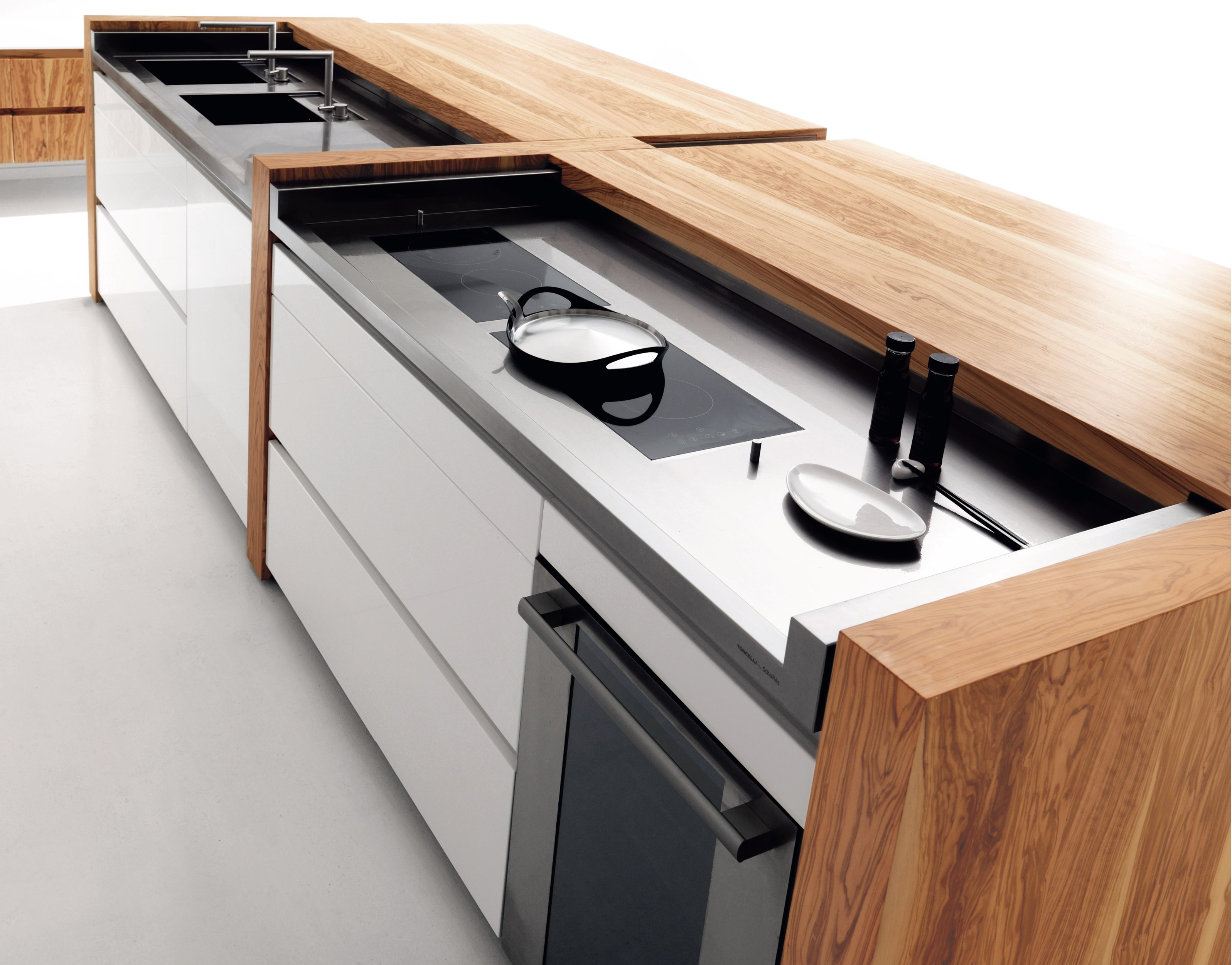 Olive wood kitchen with island essential wood by toncelli cucine - Cucine toncelli ...