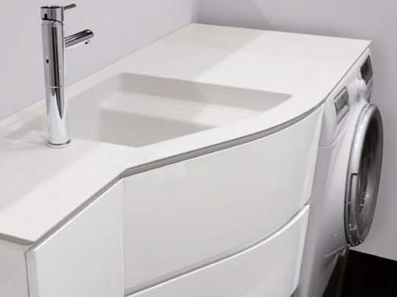 Bagno con lavatrice e lavatoio decora la tua vita - Mobile lavabo lavatrice ...