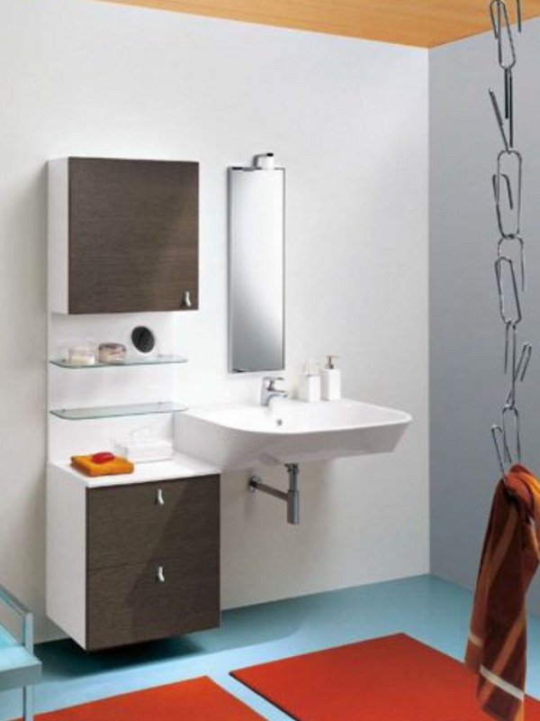 modular bathroom cabinet with doors riko collection by