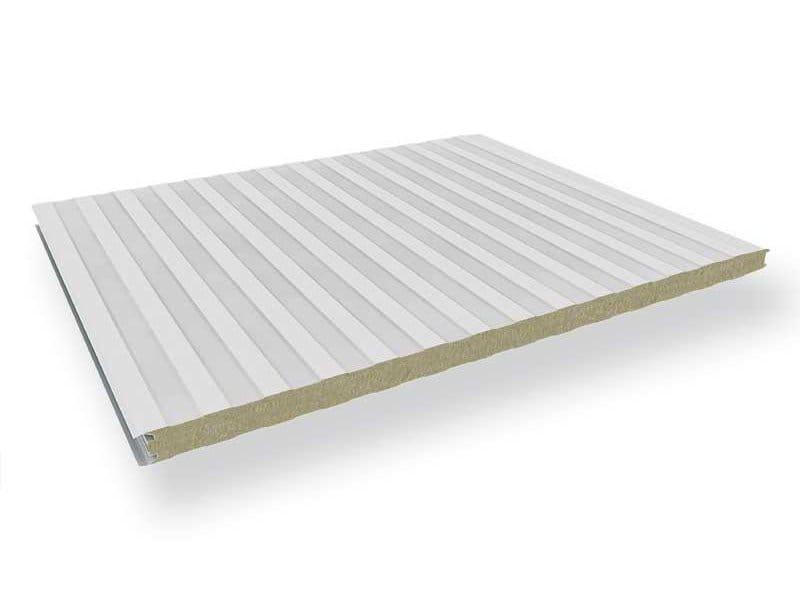 Pannello metallico coibentato per facciata mec w by for Pannelli coibentati lisci prezzi