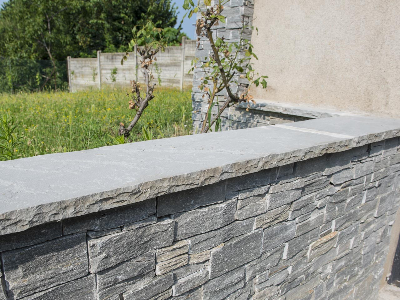 Natural Stone Wall Caps : Natural stone wall coping by b