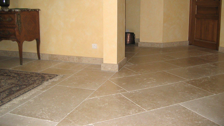 Indoor outdoor calcareous stone flooring MYRA 30 X 60 by B&B