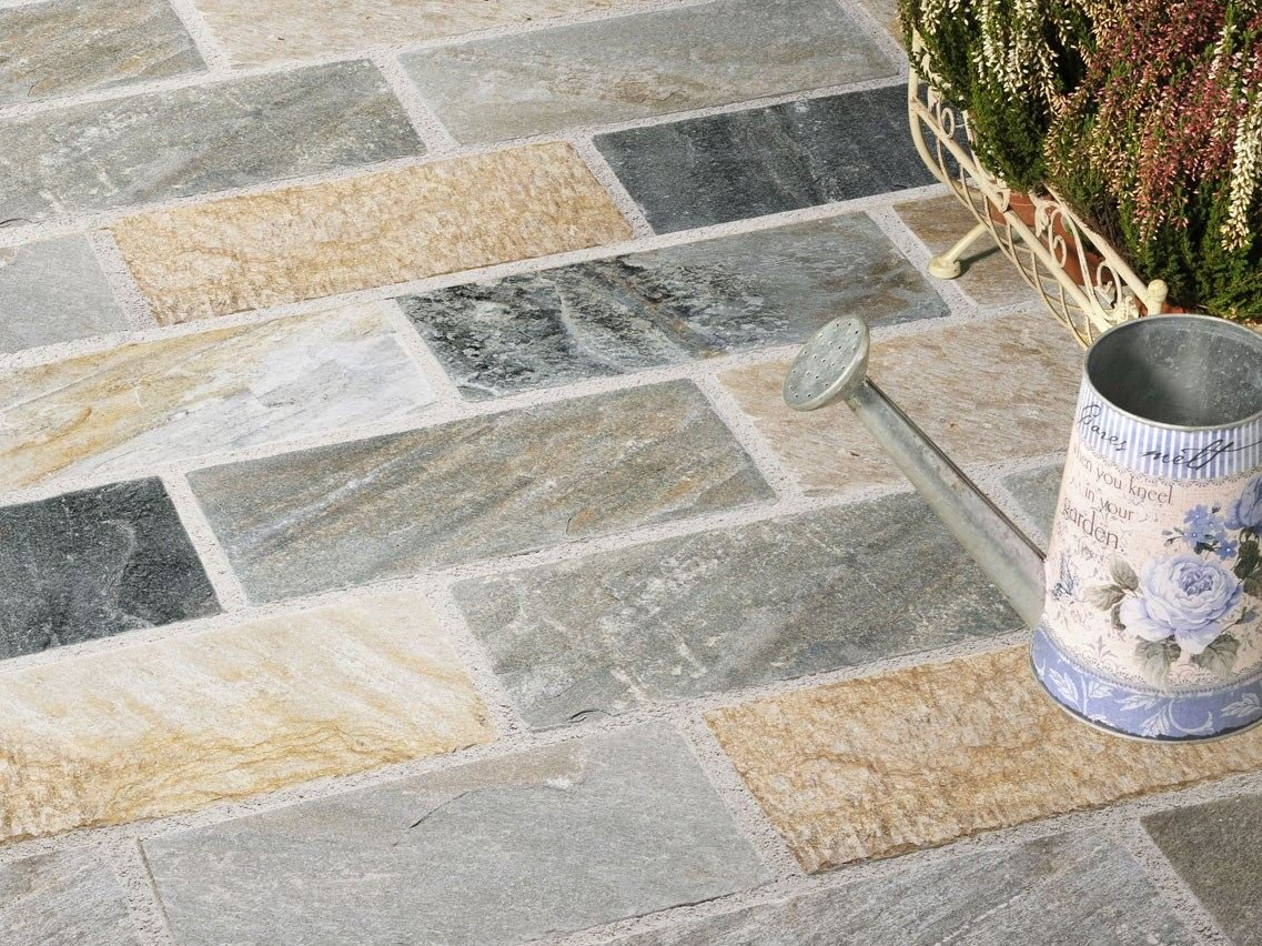 Rovella baldosas de exterior by b b pietra naturale for Baldosas de piedra para exterior