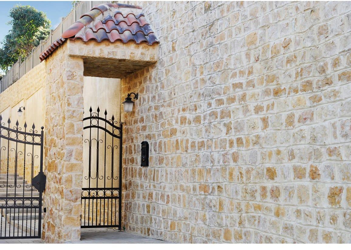 Revestimiento de fachada de piedra natural giallo reale by b b - Revestimiento fachadas piedra ...
