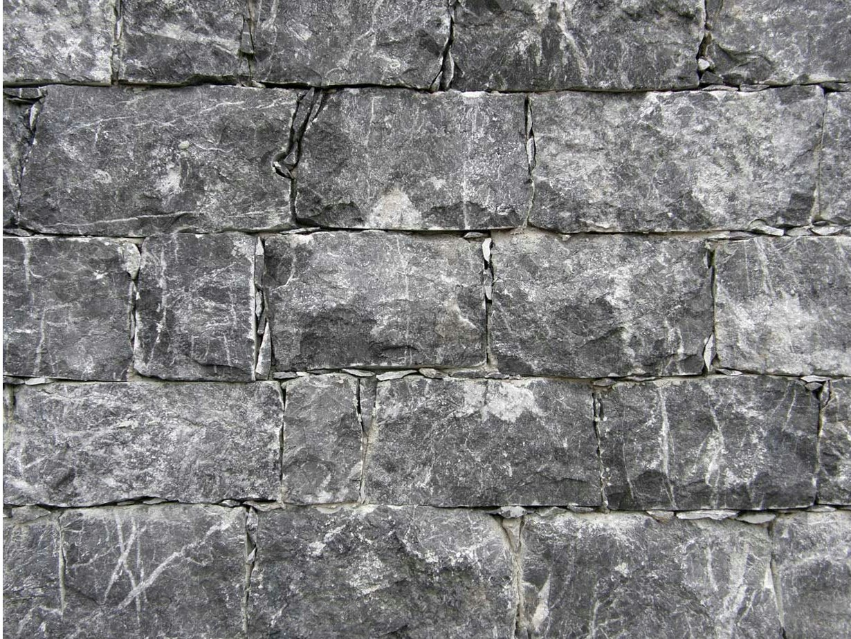 Revestimiento de pared de piedra natural grigio carnico by - Piedra natural pared ...