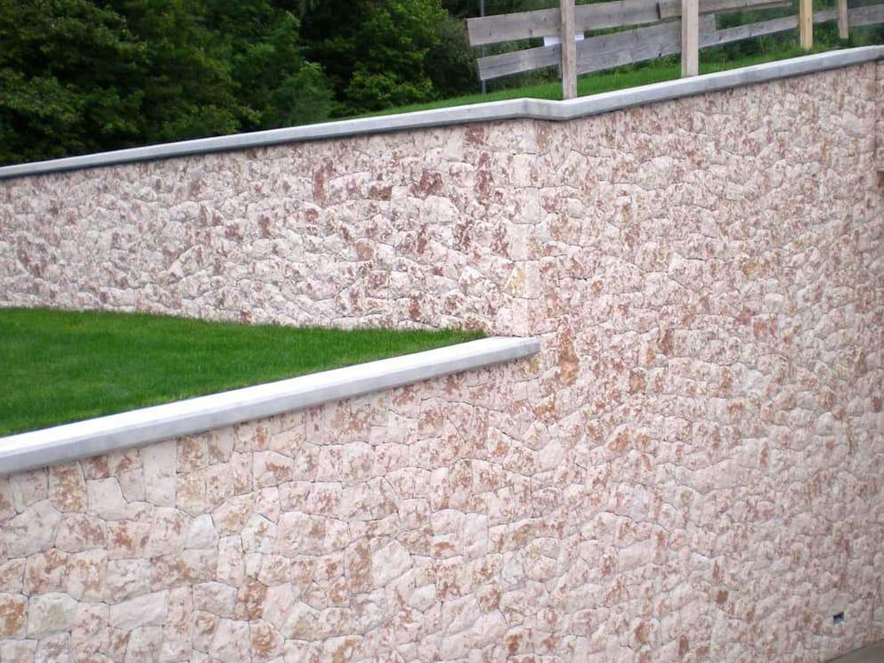 Rosa revestimiento de pared de piedra natural by b&b