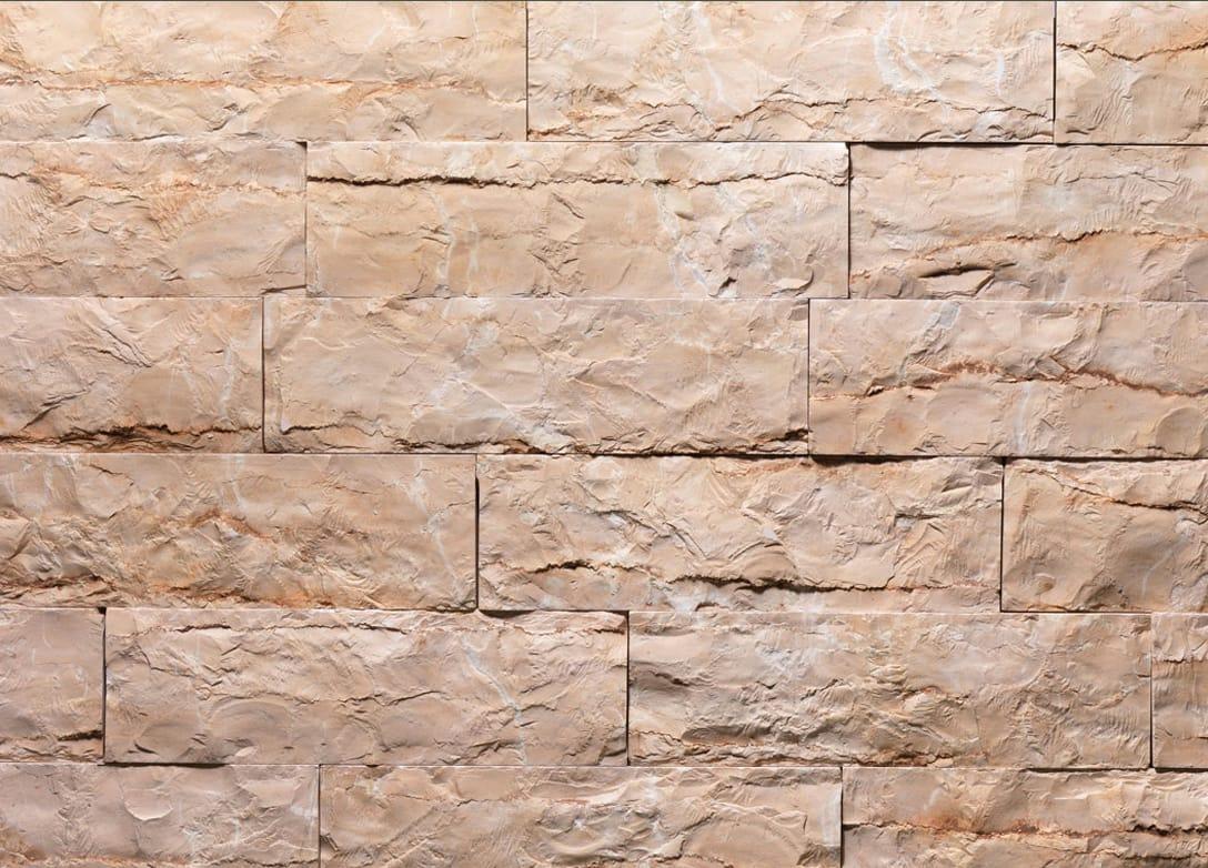 Revestimiento de fachada de piedra natural rosa tr by b b - Paredes de piedra natural ...
