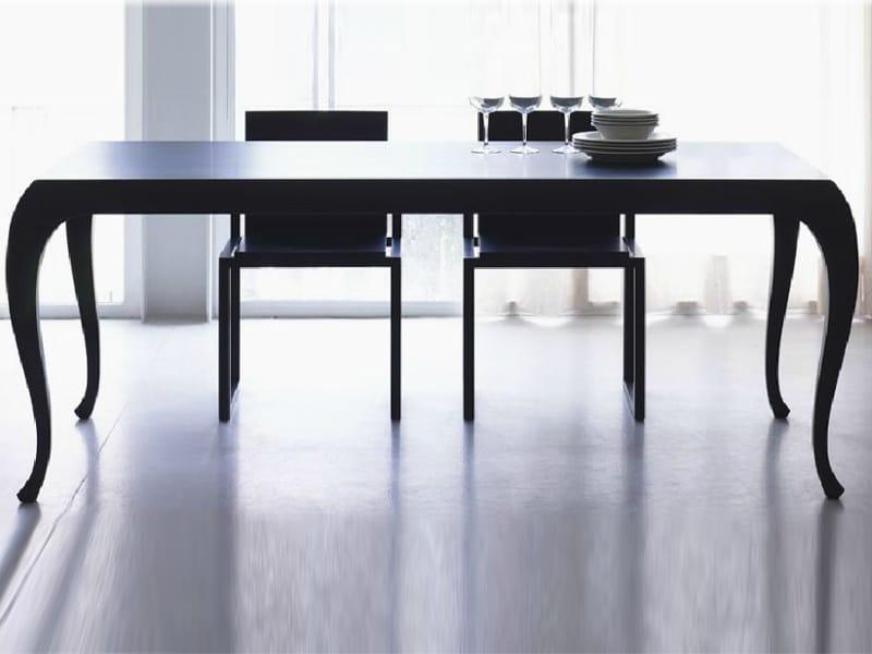 Tavolo da pranzo rettangolare in legno timavo by linfa for Tavolo da pranzo design