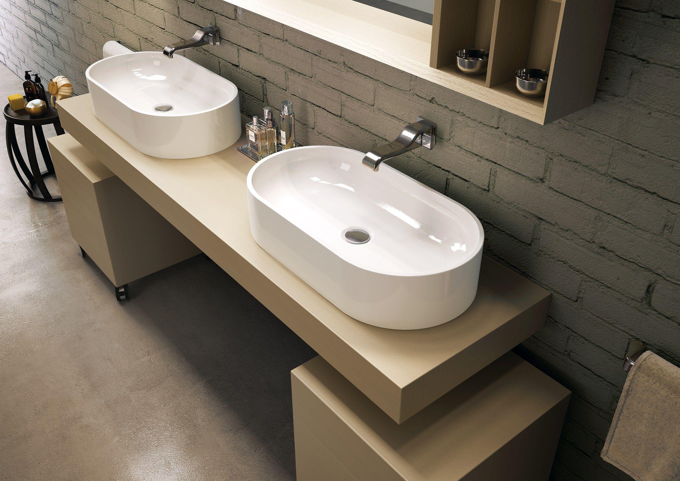 Pass lavabo da appoggio by ceramica flaminia - Lavelli da bagno ...