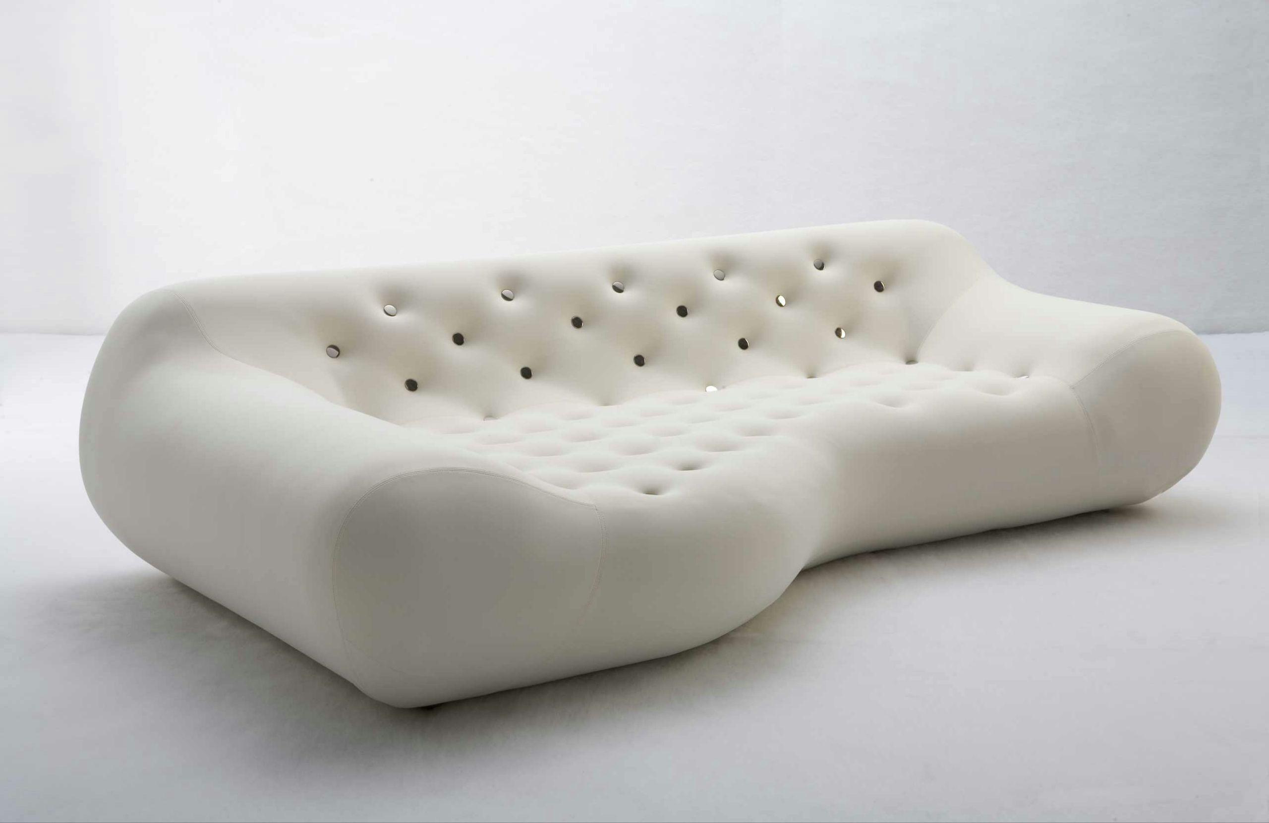 Canapé design avec revêtement amovible avec rembourrage ignifuge ...