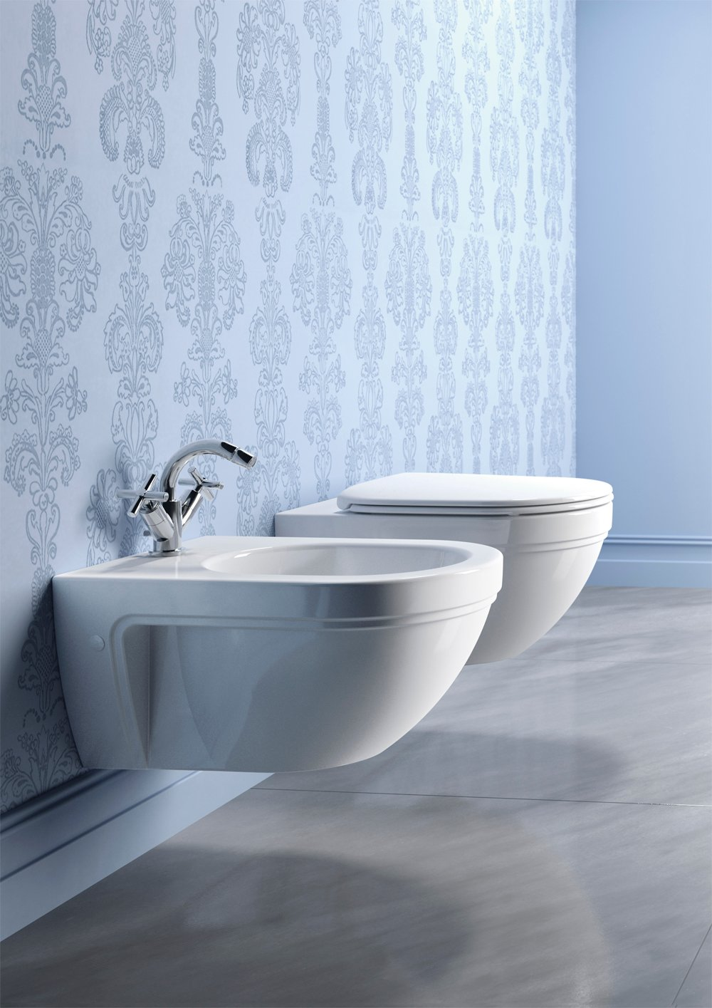 Wall hung toilet canova royal 55 canova royal collection for Ceramica catalano