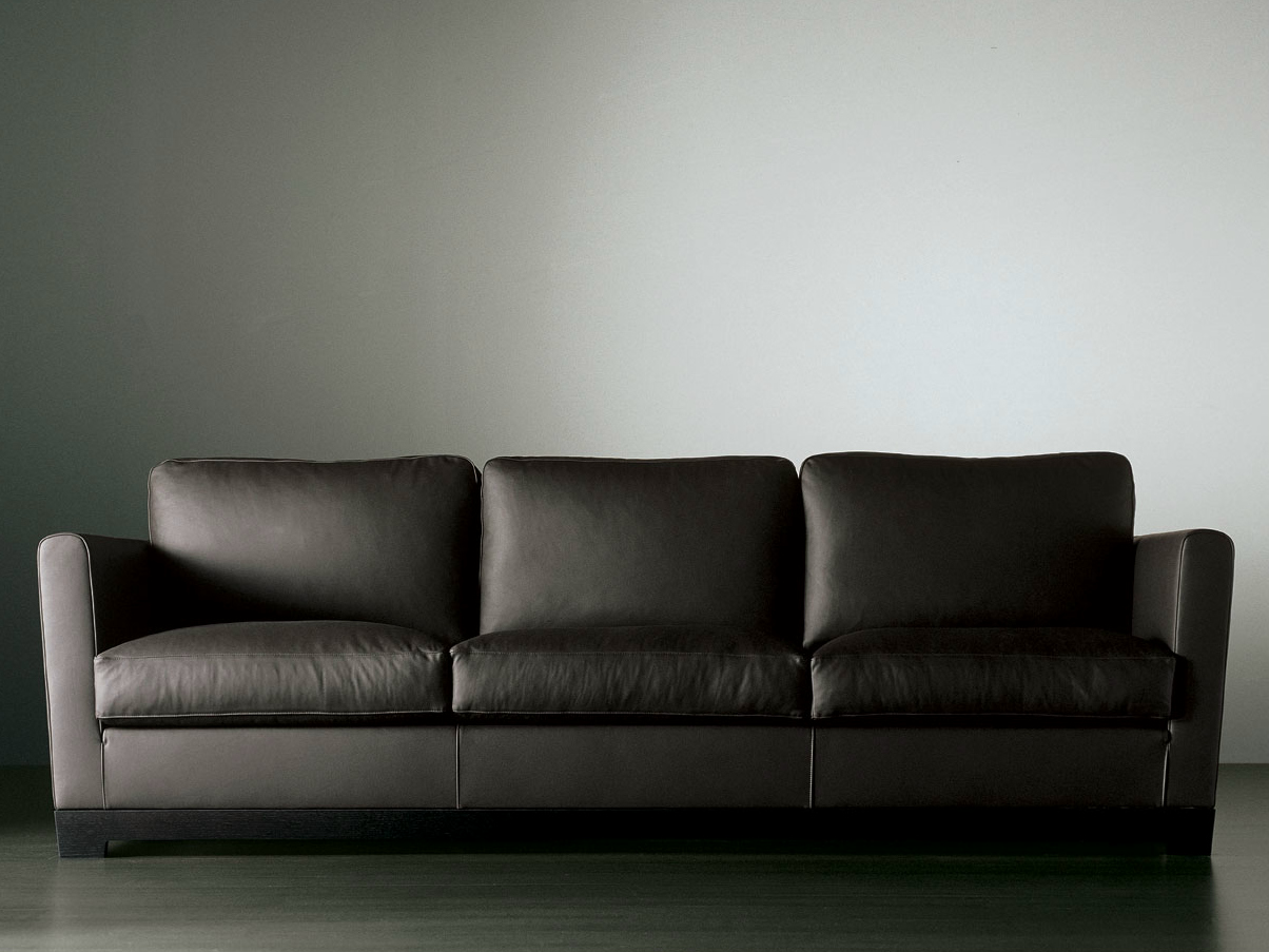 ALLEN Leather sofa by Meridiani