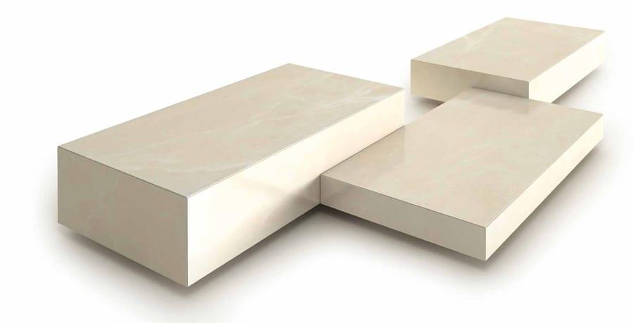 Pavimento/rivestimento in gres porcellanato effetto marmo per interni ...